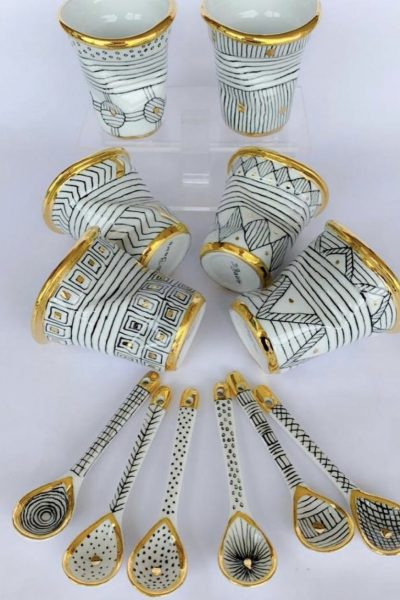Espresso Cups Set Of 6 With Spoons
