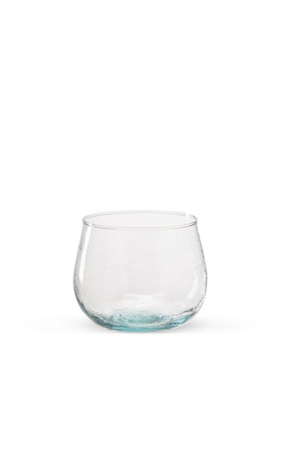 Clear Transparent Curved Glass Set Of 2