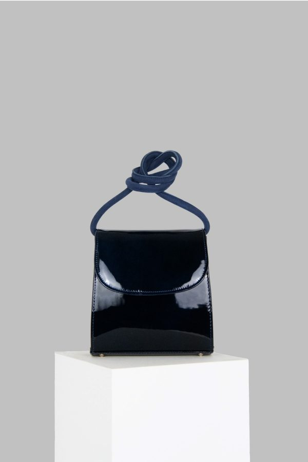 Loop Bag in Navy Patent Leather