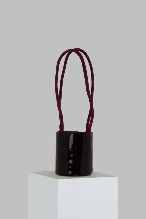 Mini Kyklos Bag in Maroon Patent Leather