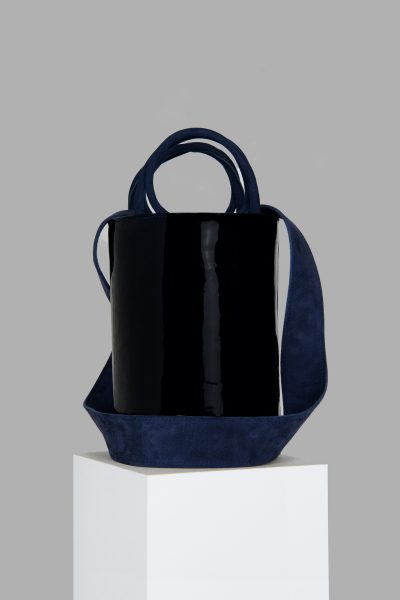 XL Kyklos Bag in Navy Patent Leather