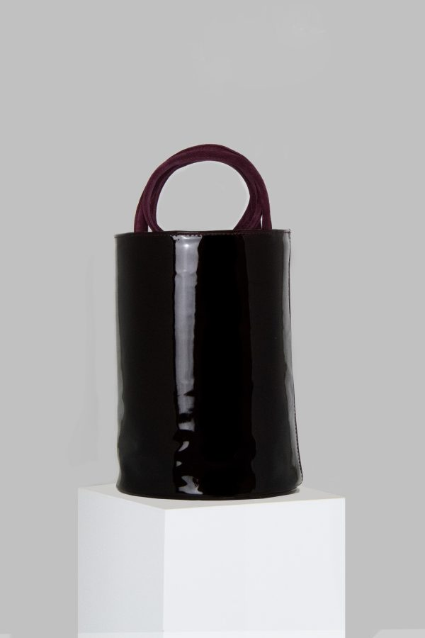 XL Kyklos Bag in Maroon Patent Leather
