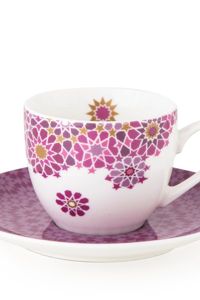 4 Coffee Cups & Saucer Moucharabieh Parme