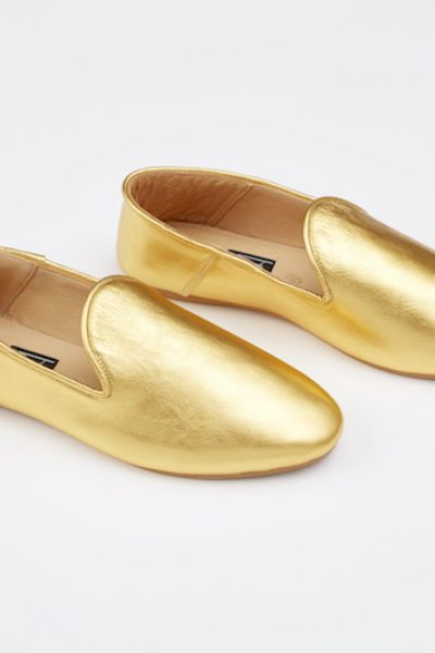 Babouche Liwan Gold Leather