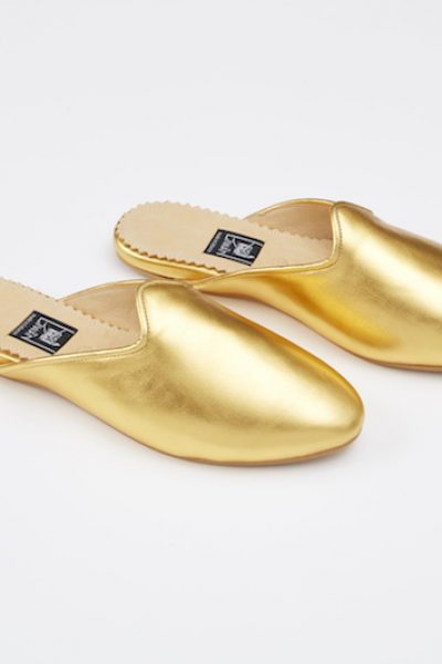 Babouche Gold Rana Leather
